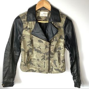 Jackets & Blazers - M4EO camo and faux leather jacket